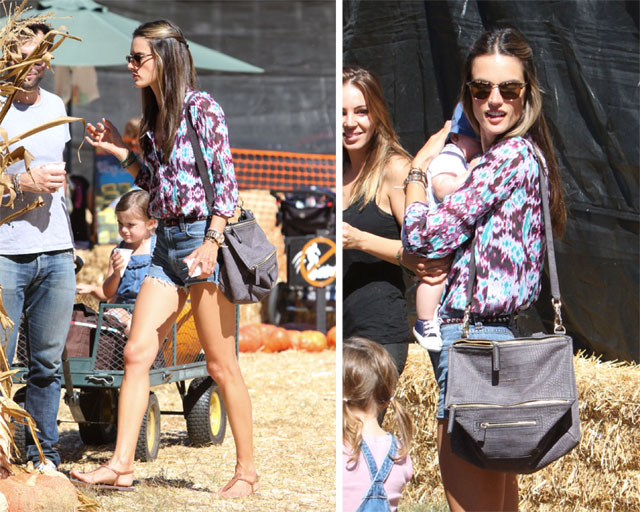 Alessandra Ambrosio carries Givenchy