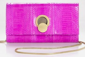 Add color and edge with this Diane von Furstenberg clutch