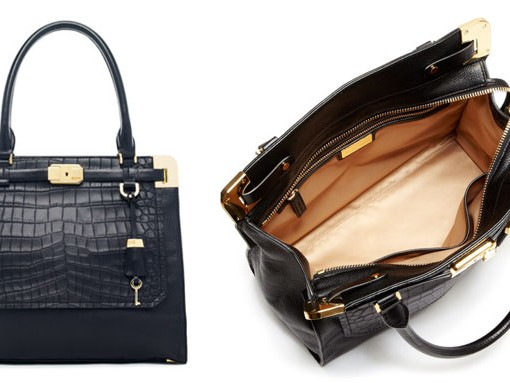 Michael Kors Blake North South Crocodile Embossed Satchel.jpg