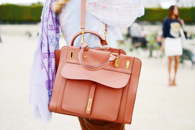 replica chloe marcie - The Best Handbags of Paris Fashion Week Street Style - PurseBlog