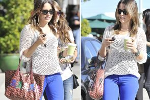 Sophia Bush adds a pastel punk edge to her Goyard Tote