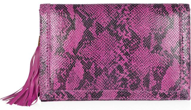 BCBGMAXAZRIA Reva Snake-print Clutch