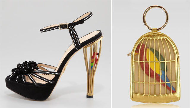 Charlotte Olympia Parrot Bag and Sandals