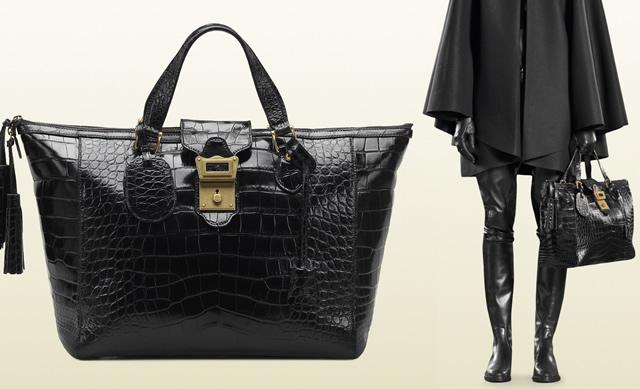 Gucci Goldmark Crocodile Top Handle Bag