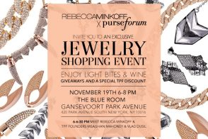 Updated: PurseBlog + Rebecca Minkoff Drinks, Jewelry and Fun!