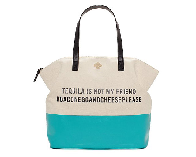 Kate Spade Tequila Is Not My Friend Terry Tote