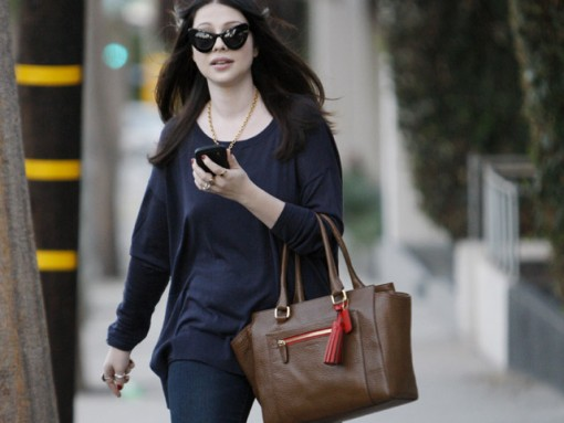 Michelle Trachtenberg seen leaving a hair salon in West Hollywood