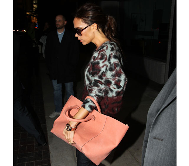 Victoria Beckham leaves Neiman Marcus after stopping in Dallas on her whirlwind promotional tour