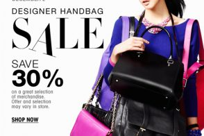 Get your holiday shopping started early with 30% off handbags at Bloomingdale's!