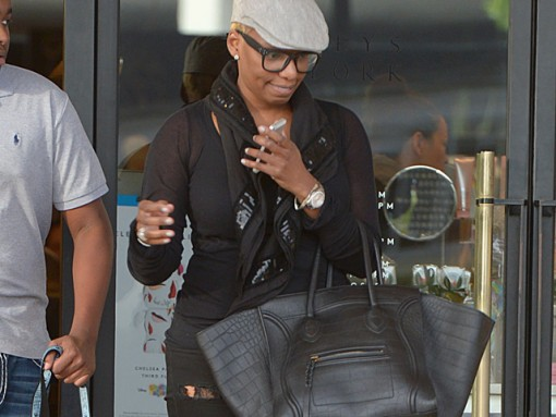 Nene Leakes, Gregg Leakes and their son shop at Barneys New York in Los Angeles, CA