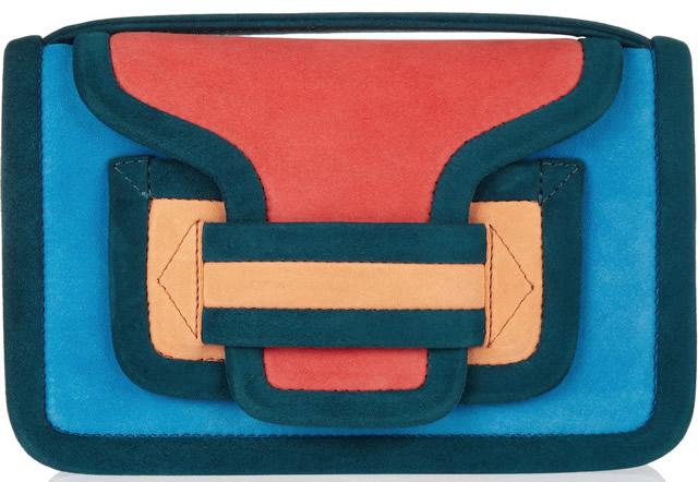 Pierre Hardy Color-block suede shoulder bag