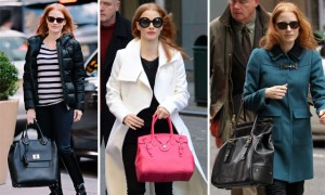The Many Bags of Jessica Chastain