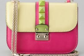 Valentino Glam Rock Colorblock Flap Bag