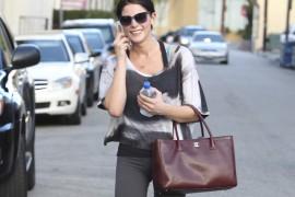 Twilight star Ashley Greene leaves the gym in Studio City, CA