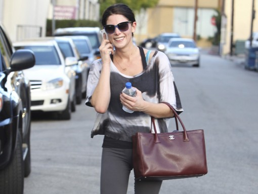 Twilight star Ashley Greene leaves the gym in Studio City, CA