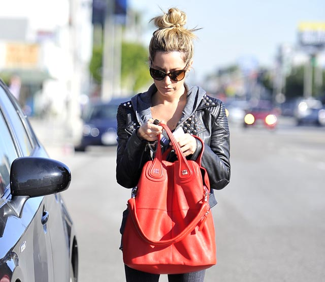 Ashley Tisdale leaves Kings Road Cafe with her reported boyfriend