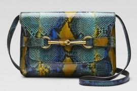 Gucci Bright Bit Python Shoulder Bag