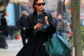 Irina Shayk takes a walk in the West Village in NYC