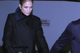 Jennifer Lopez and her boyfriend Casper Smart were seen leaving Madeo Restaurant in Beverly Hills, CA