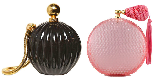 Perfume Bottle Clutches: Lanvin and Charlotte Olympia