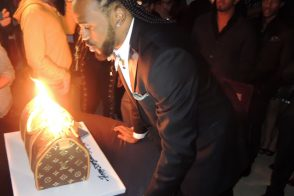 L.A. Clipper Ronny Turiaf ate a Louis Vuitton Cake for his birthday