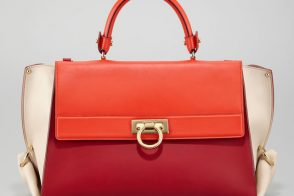 Colorblocking continues with the Salvatore Ferragamo Sofia