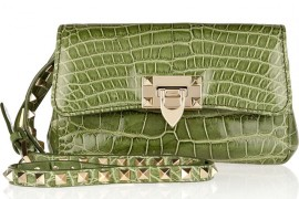 Valentino Patent alligator shoulder bag at THEOUTNET.COM 361441_in_xl