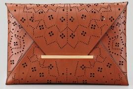 BCBG MAXAZRIA Harlow Laser-Cut Envelope Clutch Bag