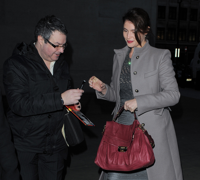 Gemma Arterton seen arriving at BBC Radio 1 studios in London