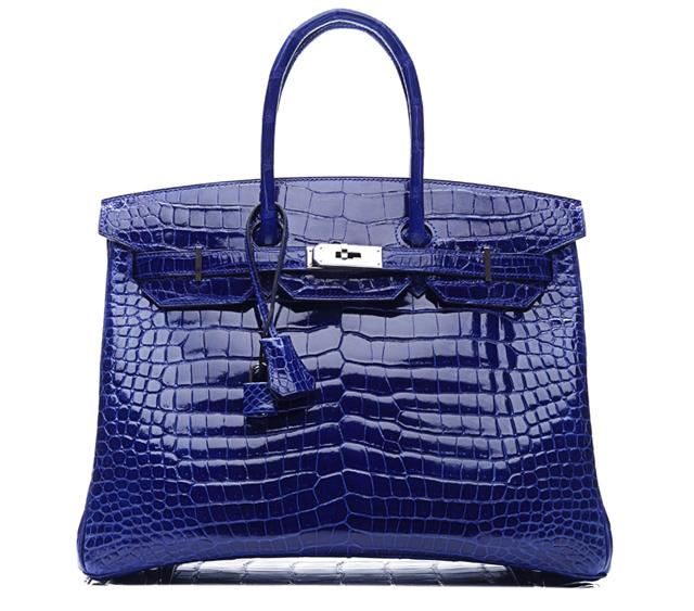 Hermes Blue Crocodile Birkin