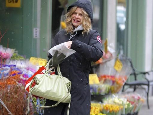 Kyra Sedgwick takes a flowery stroll in NYC
