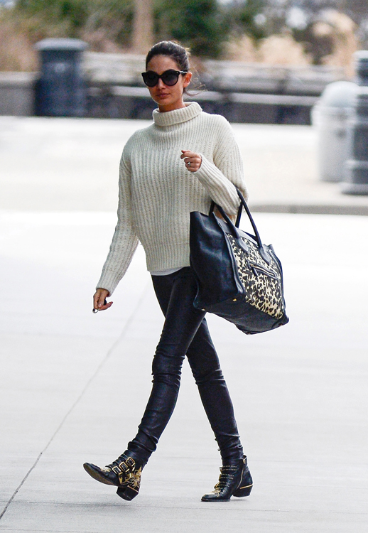 Lily Aldridge out in downtown New York