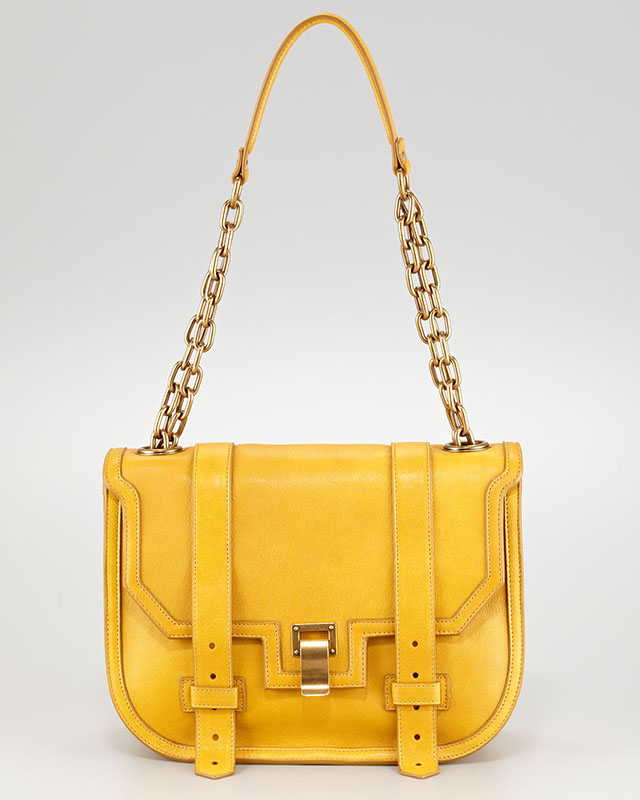 Proenza Schouler PS1 Mini Messenger in Yellow