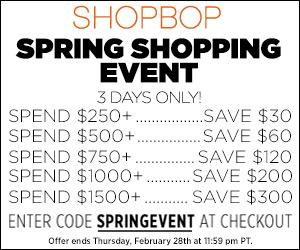 ShopBop Spring Event