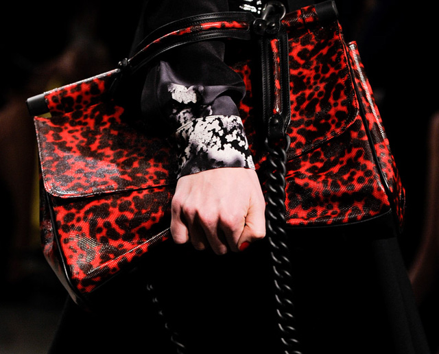 TopShop Unique Red Animal Print Satchel