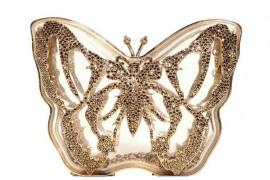 Valentino Jewel Plexiglass Butterfly Clutch