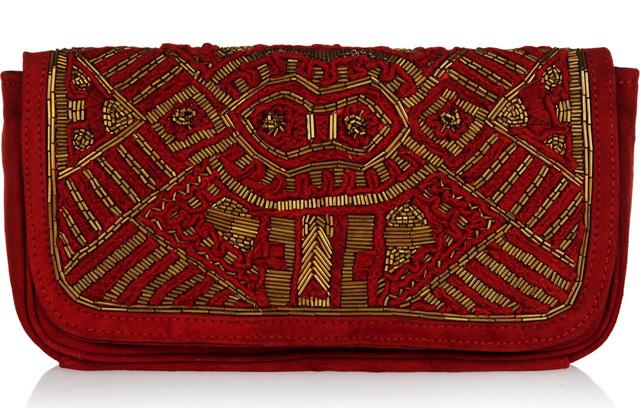 Antik Batik Darie Suede Clutch