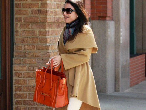 Bethenny Frankel carries a Celine Luggage Tote in NYC (5)