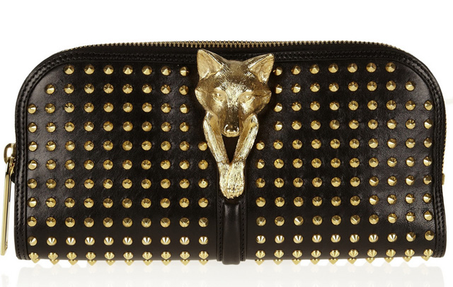 Burberry Prorsum Studded Leather Clutch