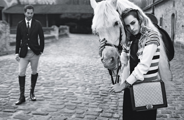The Spring 2013 Chanel Boy Bags, with advertising campaign featuring Alice Dellal (2)