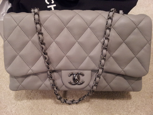 Chanel Classic Flap Bag in Grey