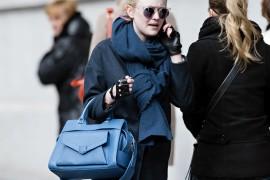 Dakota Fanning carries a blue Proenza Schouler PS13 bag in New York City (5)