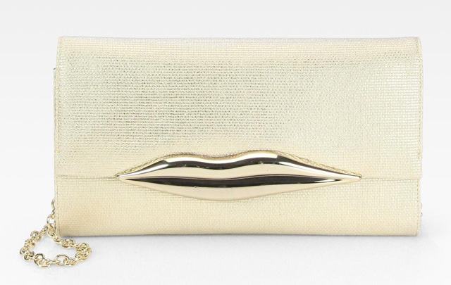 Diane von Furstenberg Carolina Lips Canvas Clutch