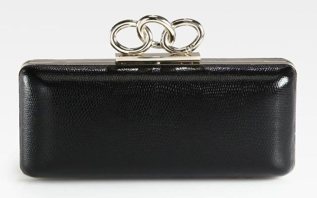 Diane von Furstenberg Sutra Lizard-Embossed Leather Clutch