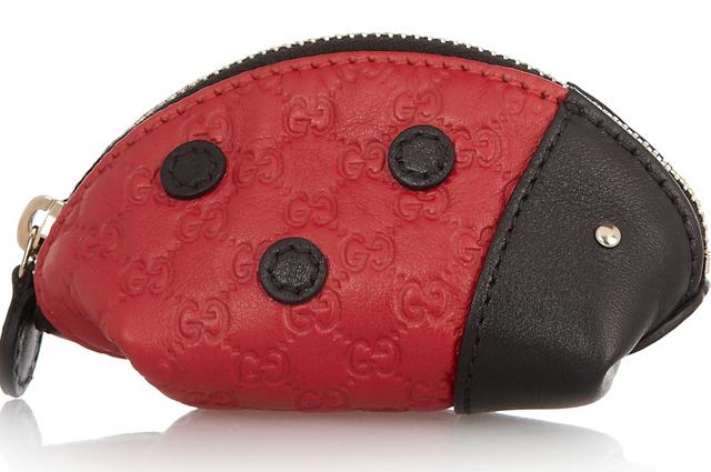 Gucci Ladybug Leather Coin Purse
