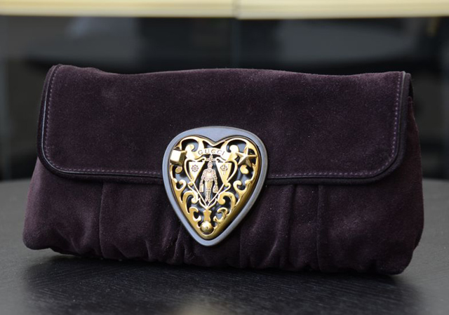 Gucci Purple Clutch
