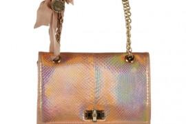Lanvin Happy Holographic Python Shoulder Bag