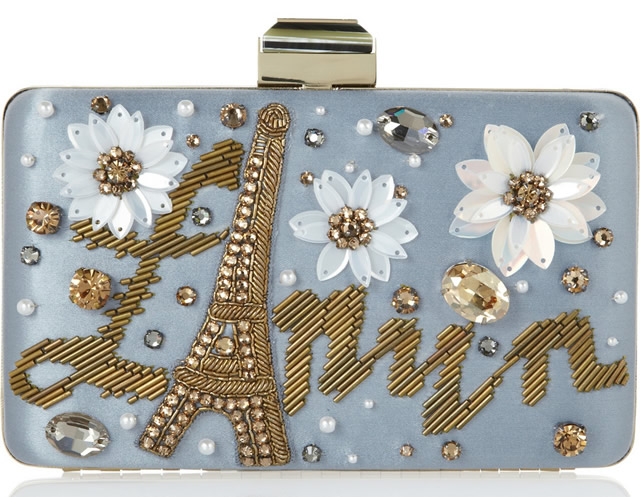 Lanvin Sea Breeze Embellished Satin Box Clutch