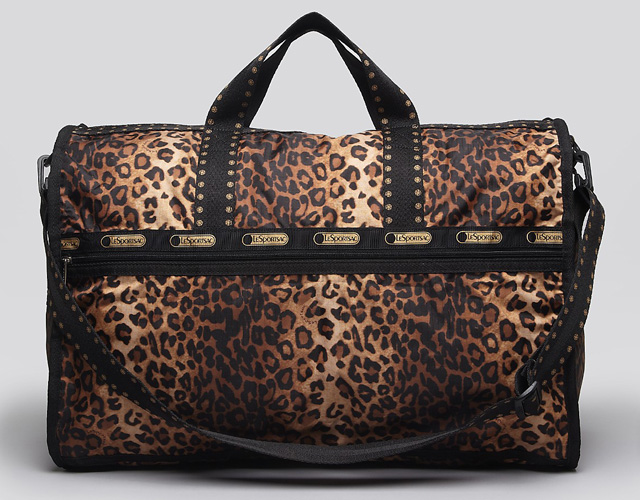 LeSportsac Cheetah Cat Large Weekender