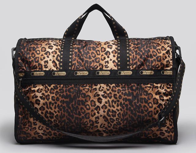 LeSportsac Cheetah Cat Large Weekender